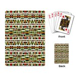 Aztec Grunge Pattern Playing Cards Single Design Back