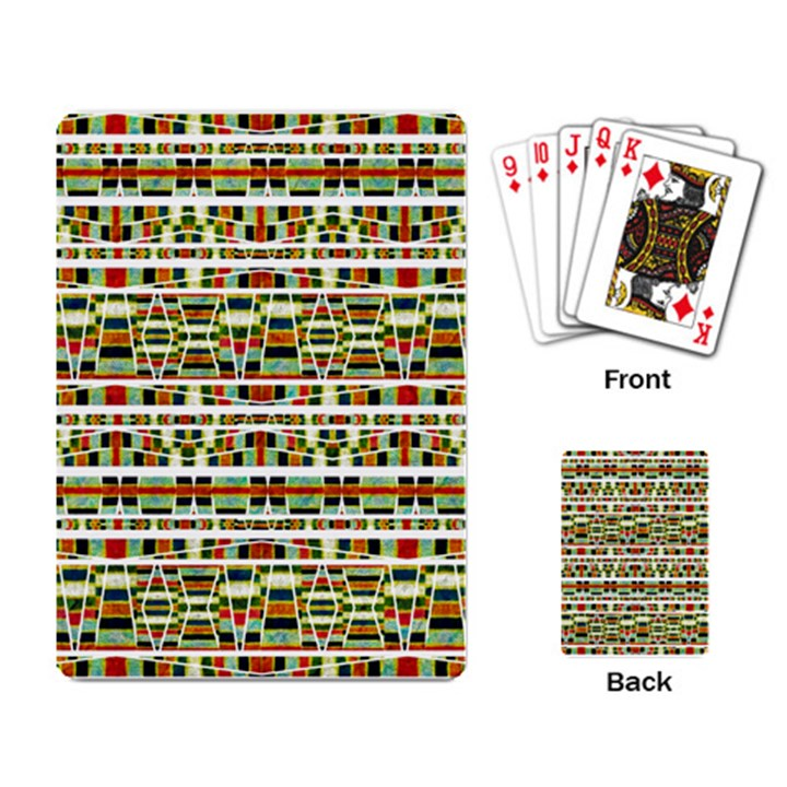 Aztec Grunge Pattern Playing Cards Single Design
