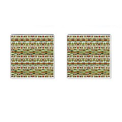 Aztec Grunge Pattern Cufflinks (square) by dflcprints