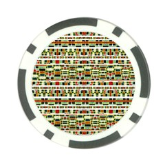 Aztec Grunge Pattern Poker Chip (10 Pack) by dflcprints