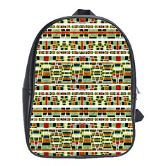 Aztec Grunge Pattern School Bag (large) by dflcprints