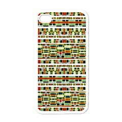 Aztec Grunge Pattern Apple Iphone 4 Case (white) by dflcprints