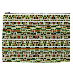 Aztec Grunge Pattern Cosmetic Bag (xxl) by dflcprints