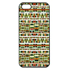 Aztec Grunge Pattern Apple Iphone 5 Seamless Case (black) by dflcprints