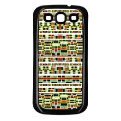 Aztec Grunge Pattern Samsung Galaxy S3 Back Case (black) by dflcprints