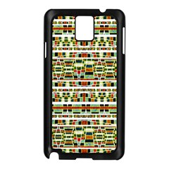 Aztec Grunge Pattern Samsung Galaxy Note 3 N9005 Case (black) by dflcprints