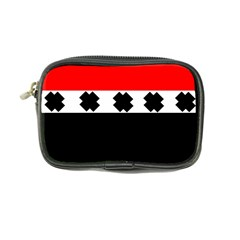 Red, White And Black With X s Design By Celeste Khoncepts Coin Purse by Khoncepts