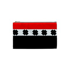 Red, White And Black With X s Design By Celeste Khoncepts Cosmetic Bag (small) by Khoncepts