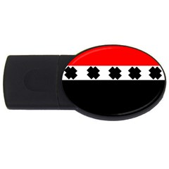 Red, White And Black With X s Electronic Accessories 4gb Usb Flash Drive (oval) by Khoncepts