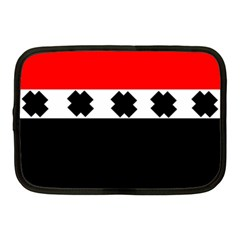 Red, White And Black With X s Electronic Accessories Netbook Sleeve (medium) by Khoncepts