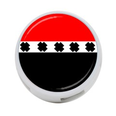 Red, White And Black With X s Electronic Accessories 4 Port Usb Hub (two Sides) by Khoncepts