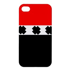Red, White And Black With X s Electronic Accessories Apple Iphone 4/4s Hardshell Case by Khoncepts
