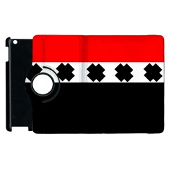 Red, White And Black With X s Electronic Accessories Apple Ipad 2 Flip 360 Case by Khoncepts