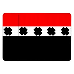 Red, White And Black With X s Electronic Accessories Samsung Galaxy Tab 8 9  P7300 Flip Case by Khoncepts