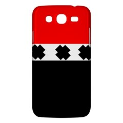 Red, White And Black With X s Electronic Accessories Samsung Galaxy Mega 5 8 I9152 Hardshell Case  by Khoncepts