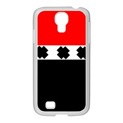 Red, White And Black With X s Electronic Accessories Samsung Galaxy S4 I9500/ I9505 Case (white) by Khoncepts