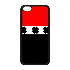 Red, White And Black With X s Electronic Accessories Apple Iphone 5c Seamless Case (black) by Khoncepts