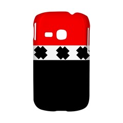 Red, White And Black With X s Electronic Accessories Samsung Galaxy S6310 Hardshell Case