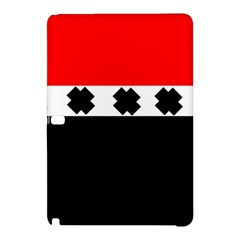Red, White And Black With X s Electronic Accessories Samsung Galaxy Tab Pro 12 2 Hardshell Case by Khoncepts
