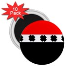 Red, White And Black With X s Design By Celeste Khoncepts 2.25  Button Magnet (10 pack) Front