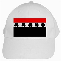 Red, White And Black With X s Design By Celeste Khoncepts White Baseball Cap by Khoncepts