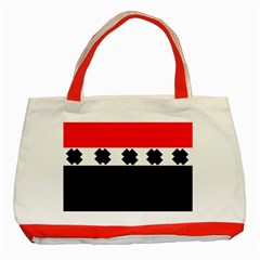 Red, White And Black With X s Design By Celeste Khoncepts Classic Tote Bag (red) by Khoncepts