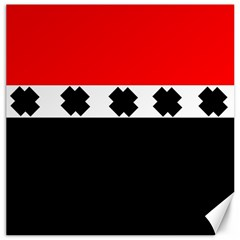Red, White And Black With X s Design By Celeste Khoncepts Canvas 16  X 16  (unframed) by Khoncepts