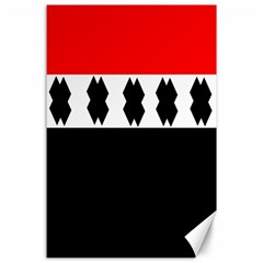 Red, White And Black With X s Design By Celeste Khoncepts Canvas 24  X 36  (unframed) by Khoncepts