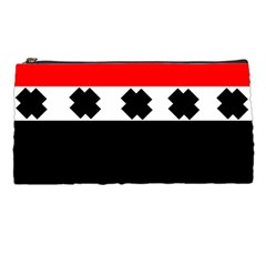Red, White And Black With X s Design By Celeste Khoncepts Pencil Case by Khoncepts
