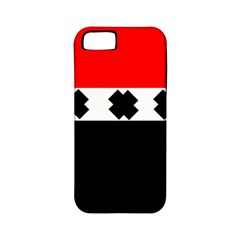 Red, White And Black With X s Design By Celeste Khoncepts Apple Iphone 5 Classic Hardshell Case (pc+silicone) by Khoncepts