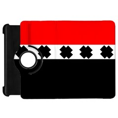 Red, White And Black With X s Design By Celeste Khoncepts Kindle Fire HD 7  (1st Gen) Flip 360 Case by Khoncepts