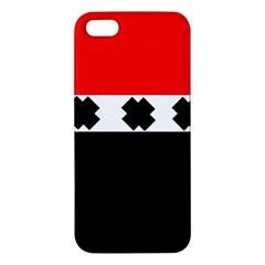 Red, White And Black With X s Design By Celeste Khoncepts Apple Iphone 5 Premium Hardshell Case