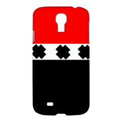 Red, White And Black With X s Design By Celeste Khoncepts Samsung Galaxy S4 I9500/i9505 Hardshell Case by Khoncepts