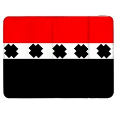 Red, White And Black With X s Design By Celeste Khoncepts Samsung Galaxy Tab 7  P1000 Flip Case