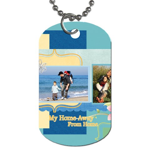 Family By Family   Dog Tag (one Side)   Nj3ocyhnaory   Www Artscow Com Front