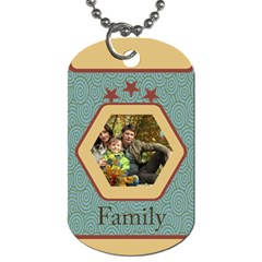 Family By Family   Dog Tag (two Sides)   4en59xmras8g   Www Artscow Com Front