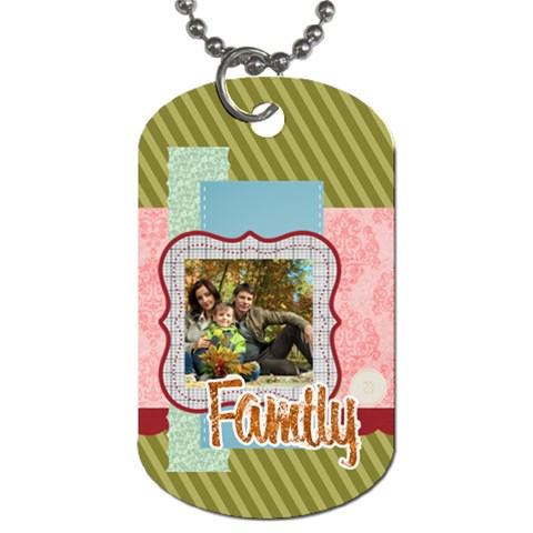 Family By Family   Dog Tag (one Side)   S7ah7d4f5jvs   Www Artscow Com Front