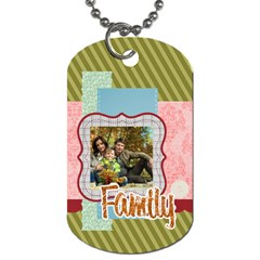 Family By Family   Dog Tag (two Sides)   K0g04djbpcmz   Www Artscow Com Front