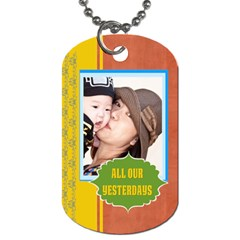Family By Family   Dog Tag (two Sides)   Xiy2ei5usoh6   Www Artscow Com Front
