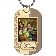 Family By Family   Dog Tag (two Sides)   Hkmhtne0hvm8   Www Artscow Com Front