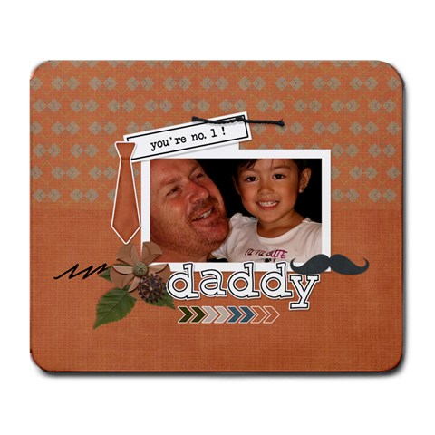 Mousepad: Dad 1 By Jennyl   Large Mousepad   Xmjn491vmocl   Www Artscow Com Front