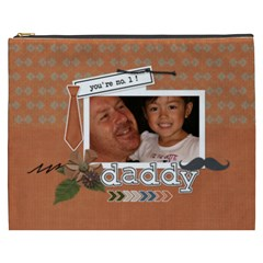 Cosmetic Bag (xxxl) : Dad 1 By Jennyl   Cosmetic Bag (xxxl)   Gjkktezg2uni   Www Artscow Com Front
