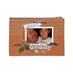 Cosmetic Bag (l) : Dad 1 By Jennyl   Cosmetic Bag (large)   Obxzyiuc21ck   Www Artscow Com Back