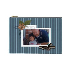 Cosmetic Bag (l) : Dad 3 By Jennyl   Cosmetic Bag (large)   S88a1c4cvzfv   Www Artscow Com Front