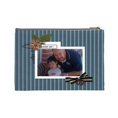 Cosmetic Bag (l) : Dad 3 By Jennyl   Cosmetic Bag (large)   S88a1c4cvzfv   Www Artscow Com Back