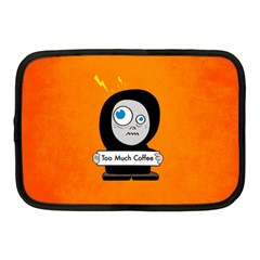 Orange Funny Too Much Coffee Netbook Sleeve (medium)