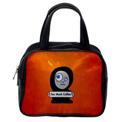 Orange Funny Too Much Coffee Classic Handbag (one Side)
