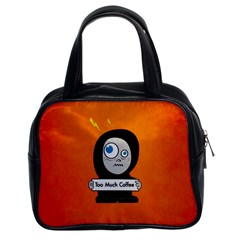 Orange Funny Too Much Coffee Classic Handbag (two Sides)