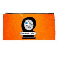 Orange Funny Too Much Coffee Pencil Case by CreaturesStore