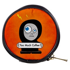 Orange Funny Too Much Coffee Mini Makeup Case
